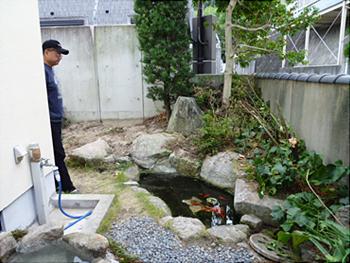 庭石、庭木の移植・撤去 作業前
