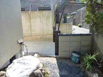 庭石、庭木の移植・撤去 作業後